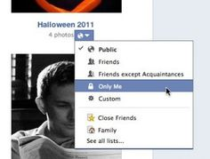 Facebook photo album privacy settings 300x228 10 ways to lock down your Facebook account