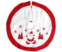 Imperial Home Christmas Tree Skirt 36' - Red and White *** Quickly view this special product, click the image : Garden Christmas Decorations