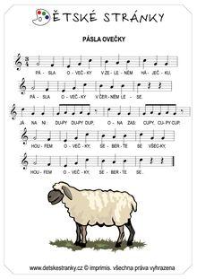 Pásla ovečky - Básničky a písničky - Dětské stránky ... Exercise For Kids, Farm Animals, Image Search, Songs, Sheet Music, Song Books
