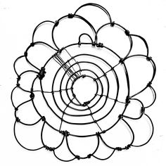 Wire Bloomer 4 by Barbara Gilhooly (Metal Wall Sculpture