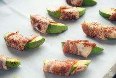 Bacon-Wrapped Avocado Recipe, sub out the chili pepper for AIP Serves 4 Prep Time: 10 min. Cooking Time: 15 min. Ingredients 4-6 strips of bacon; 1 avocado; Chili powder;