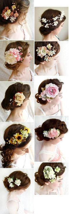 Wearing flowers in your hair