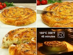 Snail Pie with Cheese and Ham