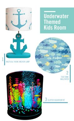 Take your kid's room under the sea with these awesome underwater-themed decor ideas! If they love aquariums or swimming in the ocean, they'll love these aquatic decorations.
