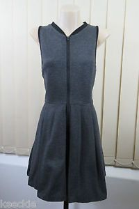 Size M 12 Ladies Sleeveless ZIP Dress Business Office Boho Grunge Skater Design | eBay