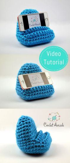 Crochet Mobile Phone Holder Video Pattern especially designed to teach how to read crochet patterns. Written Crochet Pattern is also available.