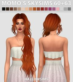 Sims 4 CC's - The Best: TS2 Momo's Skysims 60+63 Hair Conversion by Hallow...