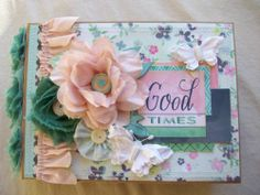 Chipboard Album Ocbrandy TPHH Premade Photo Scrapbook Good Times Basic Grey | eBay