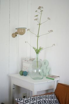 in the vase: valerian by wood & wool stool, via Flickr