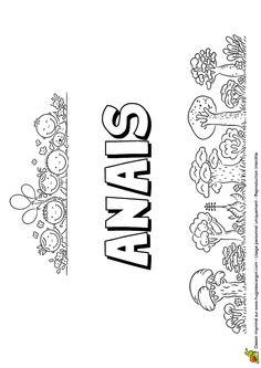 Dessin à colorier du prénom Anais