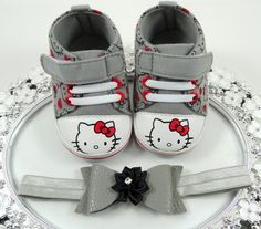 Baby Girl Sneaker and Headband Set, Newborn Baby Girl Shoes, Baby Accessories, Shower Gift, Gift for Baby by BabyLaylaLand on Etsy