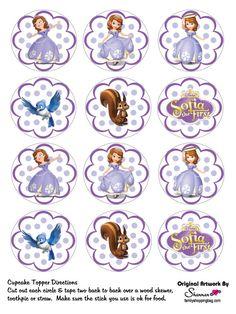 etiquetas princesa sofia
