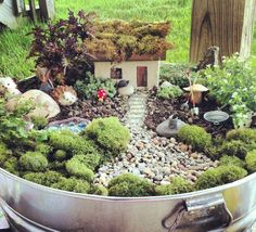 Springtime is Fairy time, check out these fairy gardens.....