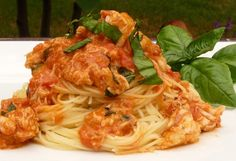 Spaghetti with Crab and Mascarpone Sauce http://www.lindasitaliantable.com/recipe-of-the-month-august-spaghetti-with-crab-and-mascarpone-sauce/#