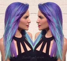 These are the arctic fox colors i want on my hair with the black !