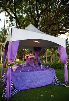 tented candy buffet. I like this idea, but it needs better execution.