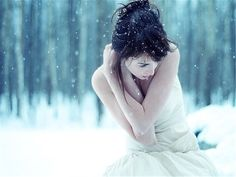 winter photography is so amazing. I always want to take a pic like this, but then I think. She's gotta be freezing!!!