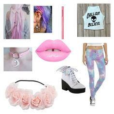 """""""Pastel Goth"""" by gohsttowngirl ❤ liked on Polyvore featuring Iron Fist and Too Faced Cosmetics"""