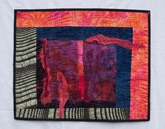 Contemporary fiber art wall hanging by farbenspielquilts on Etsy, $110.00