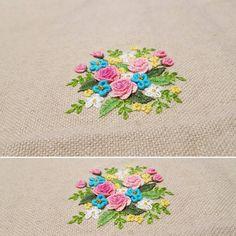 "357 Likes, 14 Comments - 건대프랑스자수 steady_embroidery (@steady_embroidery) on Instagram: ""#embroidery #embroider #needlework #dmc #flowers #gachi #bordados #handmade"""