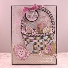 Our Daily Bread Designs Stamp Sets: Easter Egg Background, Basket of Blessings Our Daily Bread Designs Paper Collection: Easter Card 2016, Pastel Paper Pack 2016, Blushing Rose  Our Daily Bread Designs Custom Dies: Easter Basket, Easter Eggs, Leafy Edged Borders, Grass Border, Stitched Circles