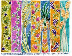 Beautiful painting of 7 species #Judaica