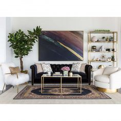 Furano Coffee Table, Gold - Coffee Tables - Accent Tables - Furniture