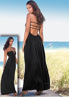 Maxi Dresses - One Shoulder, Strapless Maxi Dress & Sexy Open Back Maxi Dress Looks