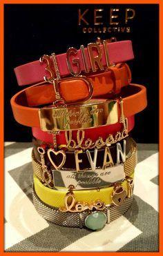 KEEP bracelets - the modern charm bracelet!! Love it!! www.keep-collective.com/with/lesliepilo