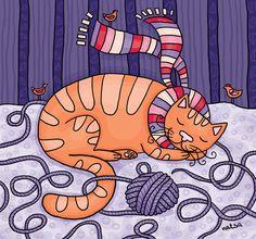 Cats - Natalia Illarionova Illustration
