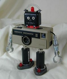 Hawkeye II, Found Object Robot ... by Sally Colby