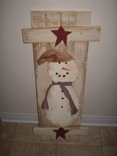 primitive wood patterns   Items similar to Primitive Snowman Wood shutter Pattern on Etsy