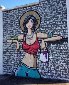 Claudia La Bianca e Renda Writer hanno collaborato per la realizzazione di questo murale a Wynwood, Miami