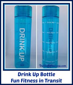 Fun Fitness in Transit - Drink Up Bottle Review and Giveaway ⋆ The Stuff of Success Exp 8/31