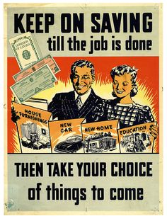 Keep on saving till the job is done! WWII poster, Canada