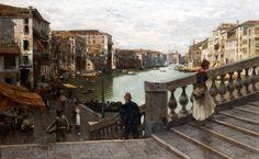 """Guglielmo Ciardi(1842-1917) """"Canal Grande"""" - 1891 Collezione privata"""