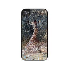 """Airstrike® Giraffe iPhone 5s Case, Giraffe iPhone 5 Case, Giraffe iPhone Case Protective Giraffe Phone Case """"Hidden Treasures"""" 50-7517"""