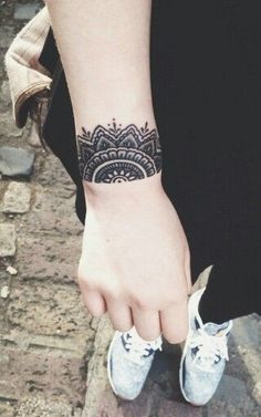 Image result for mandala cover up wrist tattoo