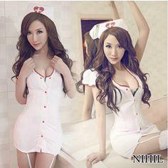 plus tamaño blanco ropa sexy nueva 2014 fantasia de fusión traje de la enfermera uniforme caliente sexy ropa interior de mujeres de la entrepierna abierta exóticas de prendas de vestir