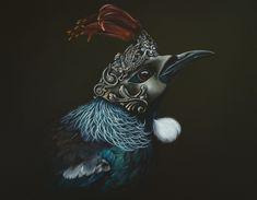 Masquerade by Jane Crisp - Art Prints New Zealand New Zealand Art, Kiwiana, Bird Artwork, Wall Art For Sale, Art For Art Sake, Botanical Art, Beautiful Birds, Masquerade, Art Forms