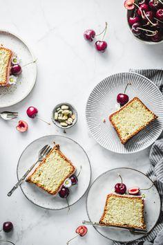 Cherry Pistachio Pound Cake - Use Your Noodles Delicious Cake Recipes, Homemade Cake Recipes, Yummy Cakes, Homemade Cherry Juice, Elegant Desserts, Sweet Desserts, Cake Design Inspiration, Pistachio Cake, Creamy Mash