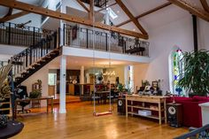 Unique Airbnb listings across Canada A Manilla church built in 1868 has been converted into a loft in Oakwood, Ont. The spacious property allows for up to eight guests. (Dan and Sarah / Airbnb) Chapel Conversion, Church Conversions, Kitchen Spotlights, Church Building, Canada, Architectural Features, Interior Exterior, Interior Design, Chalet Interior