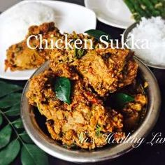 Chicken Sukka (South Canara Style Chicken In Spicy Coconut- Based Sauce) recipe by Suchitra Kamath at BetterButter Veg Recipes, Curry Recipes, Sauce Recipes, Indian Food Recipes, Asian Recipes, Chicken Recipes, Dinner Recipes, Cooking Recipes, Ethnic Recipes