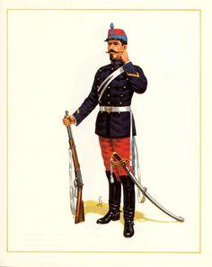 MINIATURAS MILITARES POR ALFONS CÀNOVAS: CHILE SARGENTO 2º DE CABALLERIA( CARABINEROS DE YUNGAY),PARADA ,1878