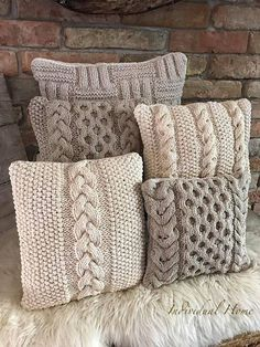 Body Pillow Throw Pillows Proper Pillow Sleeper For Pregnancy Best Pillow For Stiff Neck – lycheetal Knitting Projects, Crochet Projects, Knitted Cushions, Knitted Cushion Covers, Cushion Cover Designs, Knit Pillow, Crochet Pillow Cases, Crochet Home Decor, Crochet Patterns