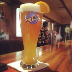 Blue Moon Beer...just ask waiter/waitress for an orange slice!
