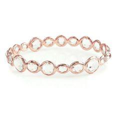Ippolita | Gelato Bangle in Clear Quartz - Bangles - Rose Gold Jewelry