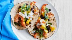 Shrimp Tacos With Mango and Black Bean Salsa Recipe