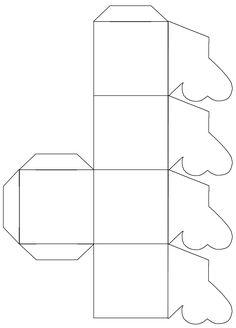 Kleeblatt Faltschachtel; folding box cloverleaf