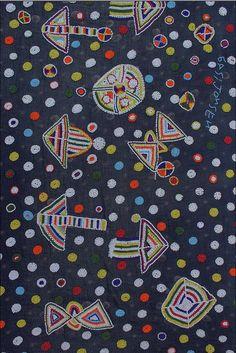 detail, beaded cloth; Masai or Samburu people of Kenya | cotton, glass beads